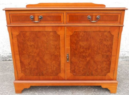 Antique Georgian Style Yew Wood Sideboard Cupboard - SOLD